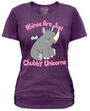 Juniors: Chubby Unicorn T-shirts