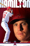 Josh Hamilton - Los Angeles Angels of Anaheim Baseball Poster Prints