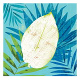 Tropical Leaf Silhouette 2 Posters by Bella Dos Santos
