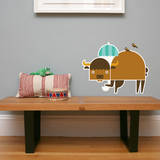 Letter B - Biki the Buffalo Wall Decal Wall Decal by Wee Society
