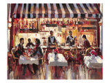Patio Dining Giclee Print by Brent Heighton