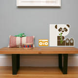 Letter P - Polly the Panda Wall Decal Wall Decal by Wee Society