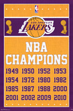 Los Angeles Lakers NBA Champions Sports Poster Posters