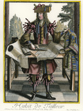 Habit de Tailleur (Fantasy costume of a Men's Tailor with Attributes of His Trade) Giclee Print by Nicolas II de Larmessin