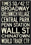 New York City Subway Style Vintage Travel Poster Prints