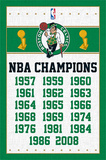 Boston Celtics NBA Champions Sports Poster Poster