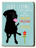 Just Living Wood Sign by Ginger Oliphant