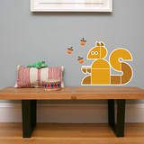 Letter S - Sidney the Squirrel Wall Decal Wall Decal by Wee Society