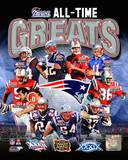 New England Patriots All Time Greats Composite Photographie