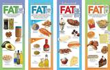 Types of Fat Educational Laminated Poster Set Stampa