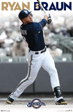 Ryan Braun Milwaukee Brewers Baseball Poster Posters