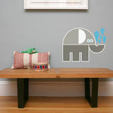 Letter E - Eli the Elephant Wall Decal Wall Decal by Wee Society
