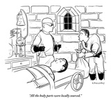 """""""All the body parts were locally sourced."""" - New Yorker Cartoon Premium Giclee Print by Alex Gregory"""