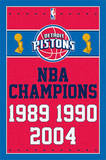 Detriot Pistons NBA Champions Sports Poster Posters
