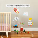 Awesome Collection 1 Wall Decal Wall Decal by Wee Society