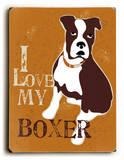 I love my Boxer 木製看板 : ジンジャー・オリファント