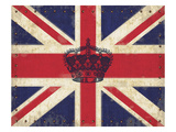 Royal Union Jack Reproduction procédé giclée par Sam Appleman