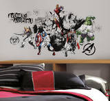 Avengers Assemble Black & White Graphic Peel & Stick Wall Decals Autocollant mural