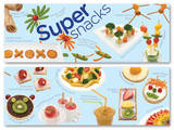 Super Snacks Educational Laminated Posters Reprodukcje
