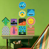 You-Things Totem Collection 1 Wall Decal Wall Decal by Wee Society