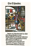 Der Schneider (The Tailor) Giclee Print by Jost Amman