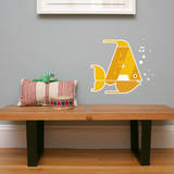Letter A - Alex the Angelfish Wall Decal Wall Decal by Wee Society