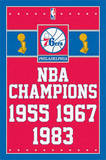 Philadelphia 76ers NBA Champions Sports Poster Posters