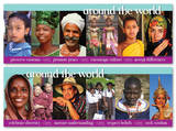 Around the World Educational Laminated Poster Set - Poster