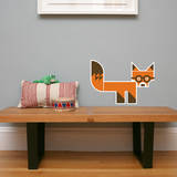 Letter F - Finnegan the Fox Wall Decal Wall Decal by Wee Society