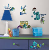 Monsters University Peel & Stick Wall Decals Decalque em parede