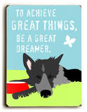 To achieve great things Placa de madeira por Ginger Oliphant