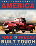Ford Trucks Built Tough Retro Vintage Tin Sign Tin Sign
