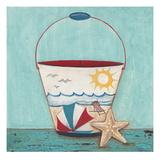 Beach Pail Giclee Print by Elle Summers