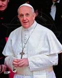 Pope Francis I, Cardinal Jorge Mario Bergoglio leaves the Basilica in Rome, March 14, 2013 Photographie