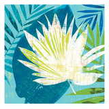 Tropical Leaf Silhouette 1 Giclee Print by Bella Dos Santos