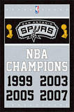 San Antonio Spurs NBA Champions Sports Poster Prints