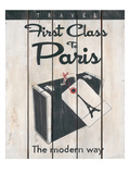 First Class Paris Poster by Hope Smith
