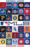 MLB 2013 Logos Sports Poster Posters