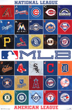 MLB 2013 Logos Sports Poster Posters