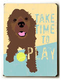 Take time to play Wood Sign by Ginger Oliphant