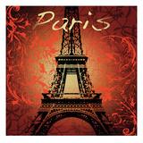 Paris Monument Affiche par Malcolm Watson