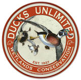 Ducks Unlimited Round Retro Vintage Tin Sign Tin Sign