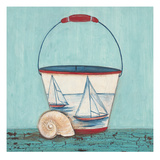Seaside Pail Giclee Print by Elle Summers