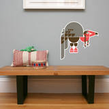 Letter V - Violet the Vulture Wall Decal Wall Decal by Wee Society