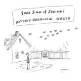 """Sure Sign of Spring: Mittens Heading North"" - New Yorker Cartoon Premium Giclee Print by Michael Maslin"