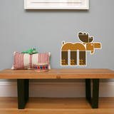 Letter M - Max the Moose Wall Decal Wall Decal by Wee Society