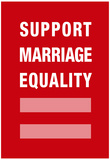 Support Marriage Equality Poster Plakaty