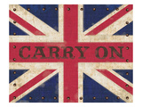 Carry on Union Jack Giclee Print by Sam Appleman