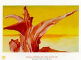 red tree, yellow sky Posters by Georgia O´Keeffe