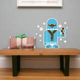 Letter Y - Yolanda the Yeti Wall Decal Wall Decal by Wee Society